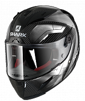Шлем интеграл Shark Race R Pro Carbon Deager Carbon Chrom White