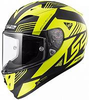 Шлем интеграл LS2 FF323 Arrow R Evo Neon Black Hi-vis Yellow