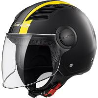 Открытый шлем LS2 OF562 Airflow Metropolis Matt Black Yellow