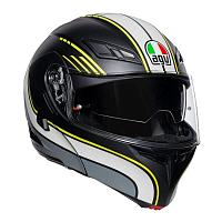 Шлем AGV Compact ST E2205 Multi - Boston Matt Black/Gray/Yellow