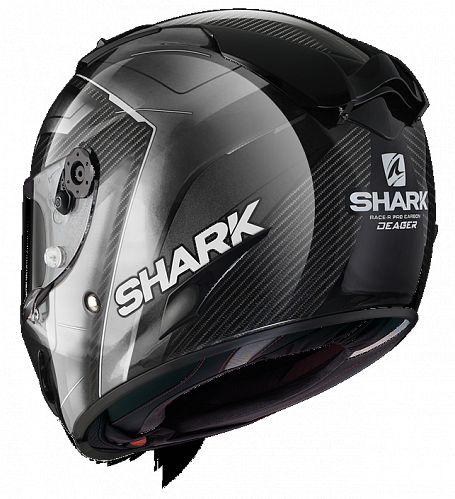 Шлем интеграл Shark Race R Pro Carbon Deager Carbon Chrom White XS