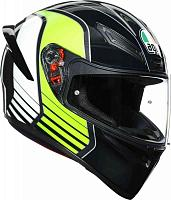 Шлем AGV K-1 Multi ECE2205 - Power Gunmetal/white/green