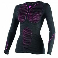 Женское термобелье Dainese D-Core Thermo TEE LS Lady - кофта, Black/Fuchsia