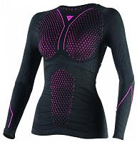 Женское термобелье Dainese D-Core Thermo TEE LS Lady - кофта, Black/Red